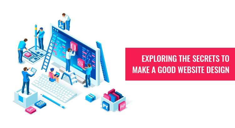 Secret to make good web design