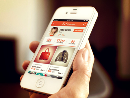 Smart phone ecommerce app