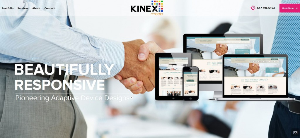 kinexmedia website development agency
