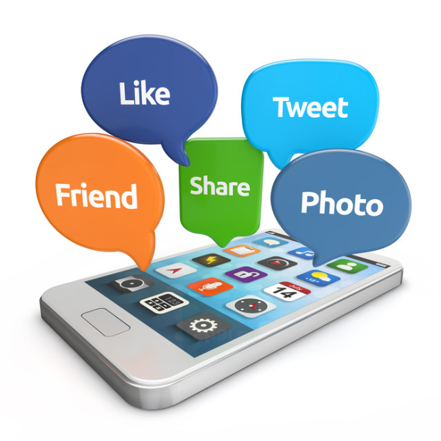 smartphone with social media