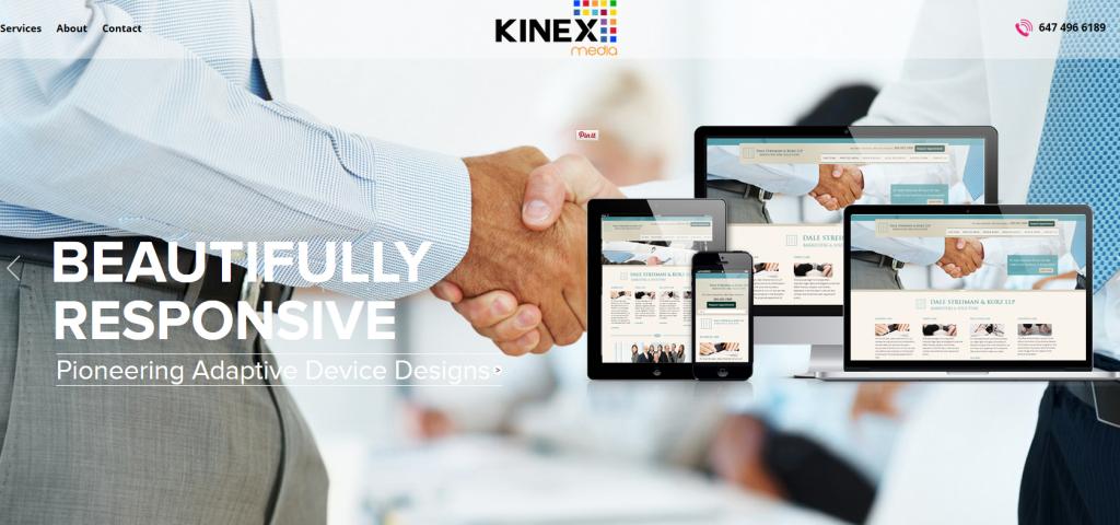 Kinex Media Responsive WebDesign Toronto
