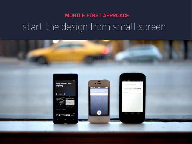 start designing for small screen