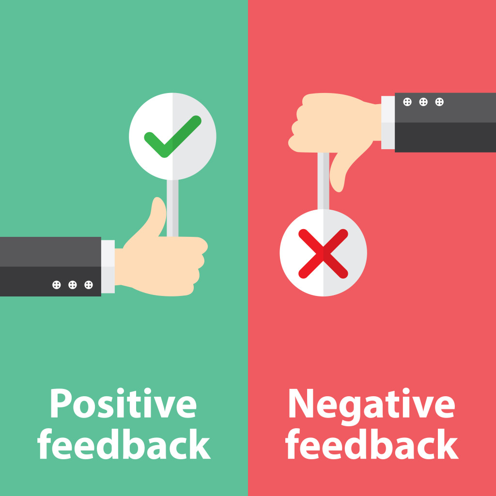 Turn negative feedback into Positive