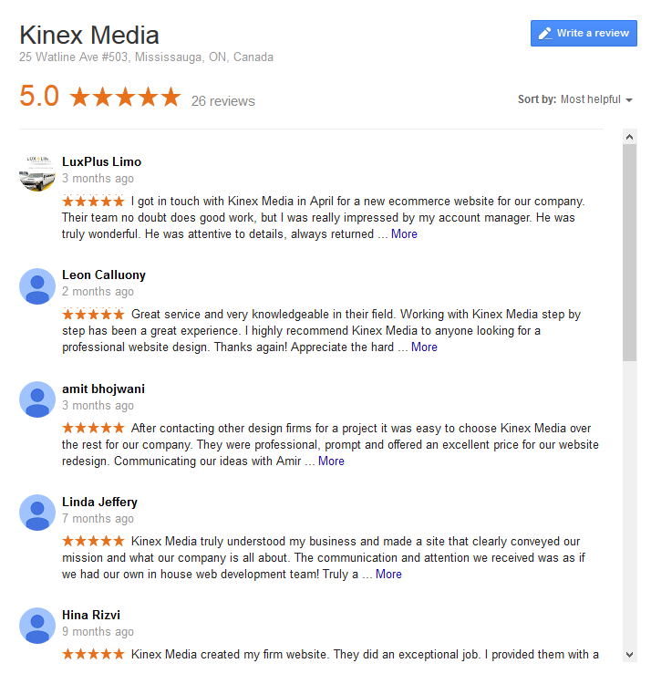 Kinex Media G+ Reviews