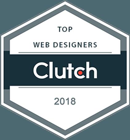 Clutch Award 2018 - Web Designers Kinex Media