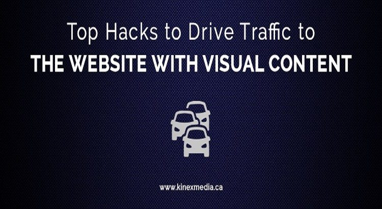 DRIVE TRAFFIC TO THE WEBSITE WITH VISUAL CONTENT