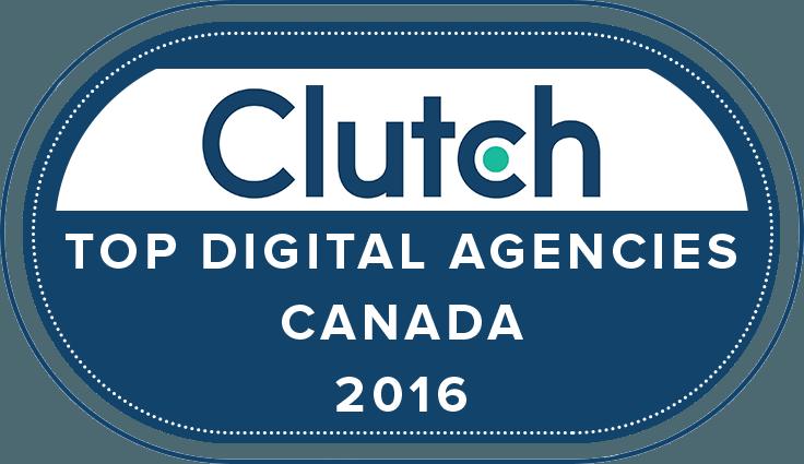 Award Top Digital Agency Canada 2016 By Clutch