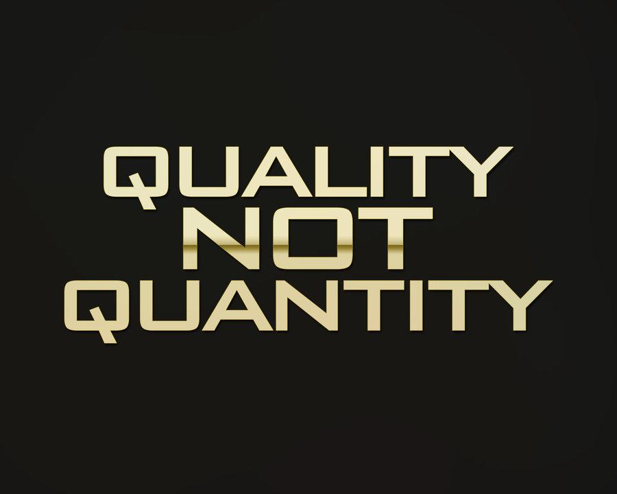 Build Quality Not Quantity Links
