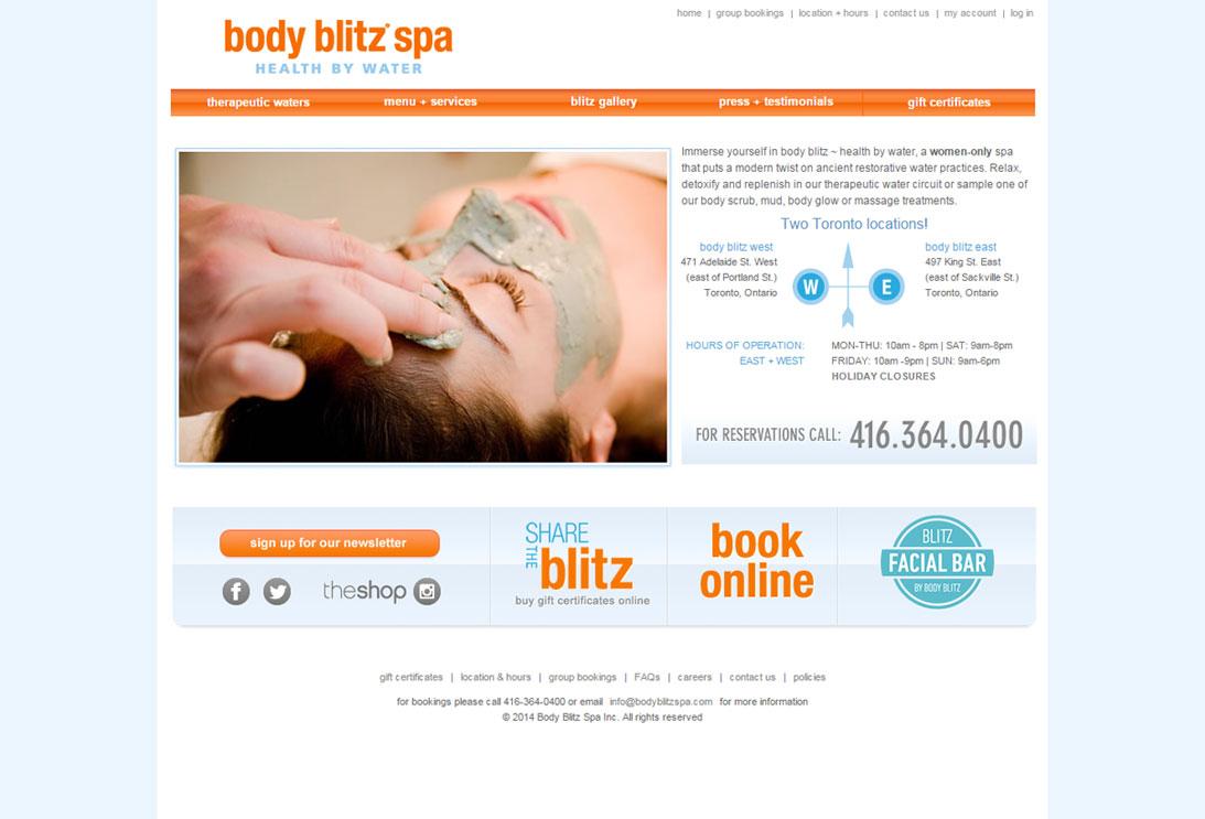 body blitz spa showcase