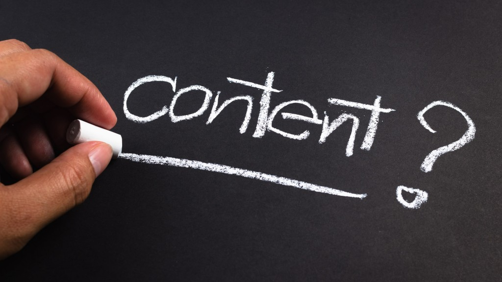 content & content marketing