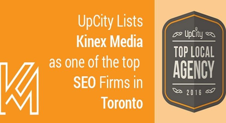 UPCity Lists KinexMedia As TOP SEO Firms in Toronto