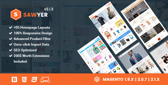 Sawyer Theme Magento 2