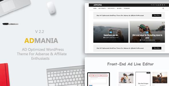 Admania WordPress theme