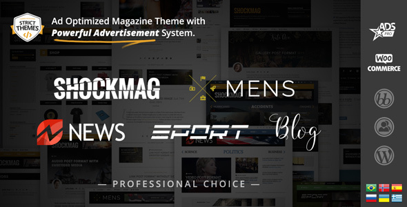 Shockmag WordPress theme