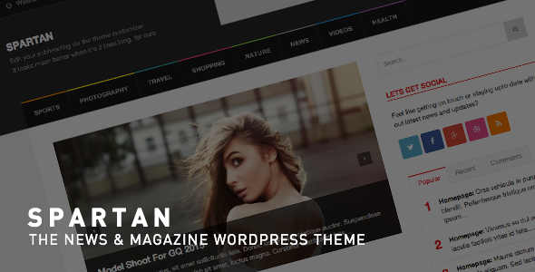 Spartan Magazine WordPress theme