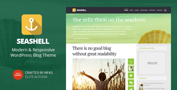seashell WordPress theme