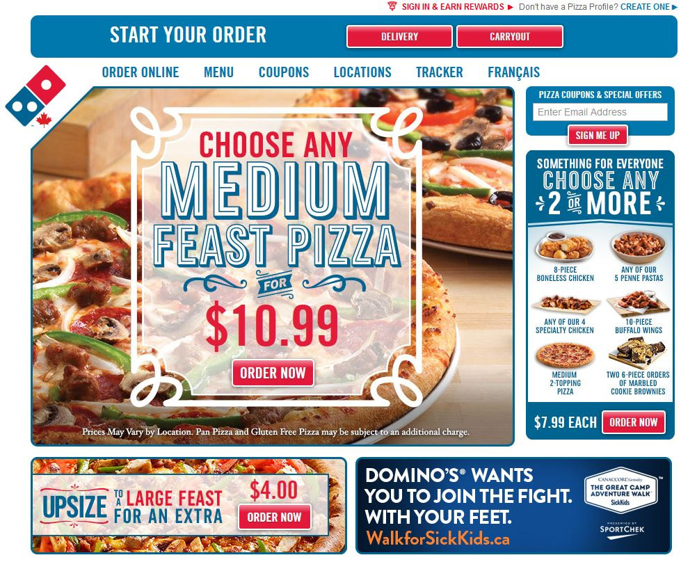 Domino's - Order By Desktop