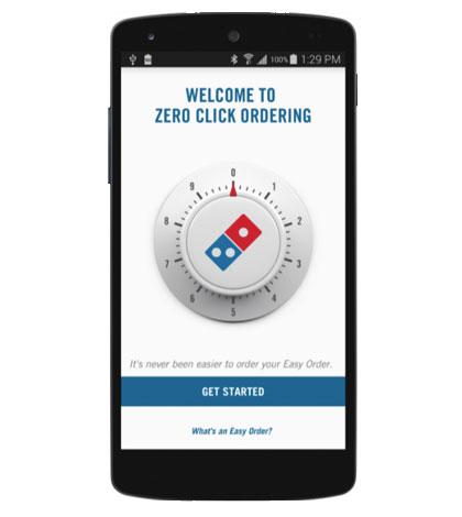 Domino's - Order By Zero Click