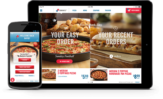 Domino's - Order By mobile ipad