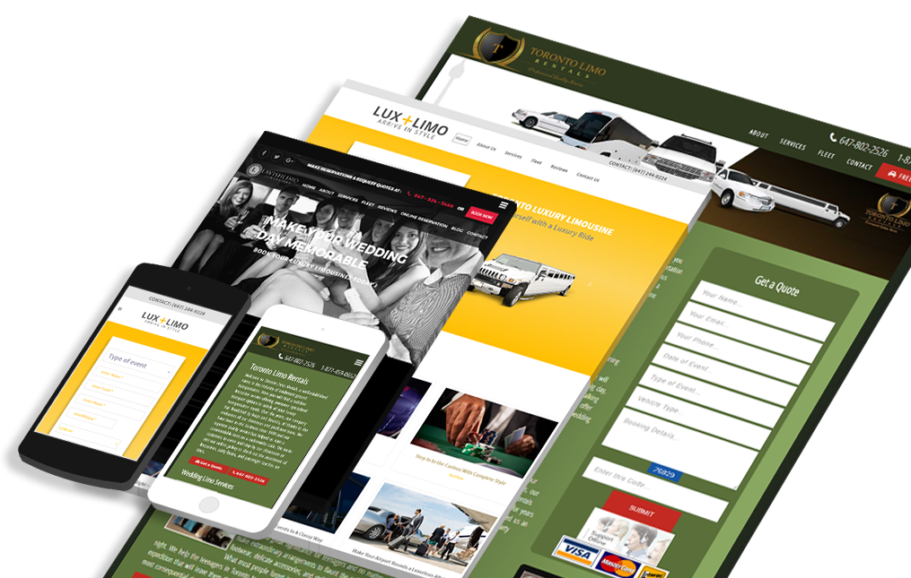 Limo Website Design Toronto