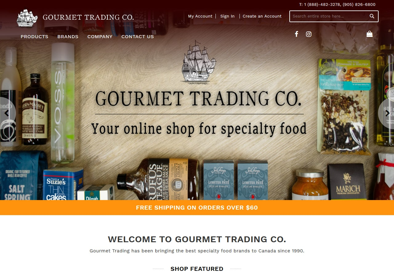 gourmet trading store