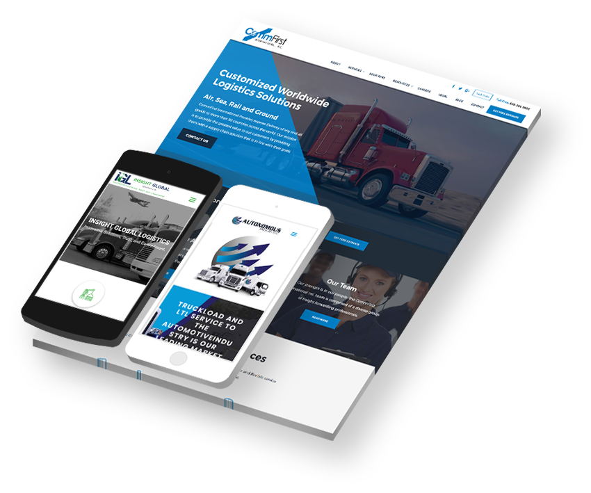 Logistics & Transportation Website Design